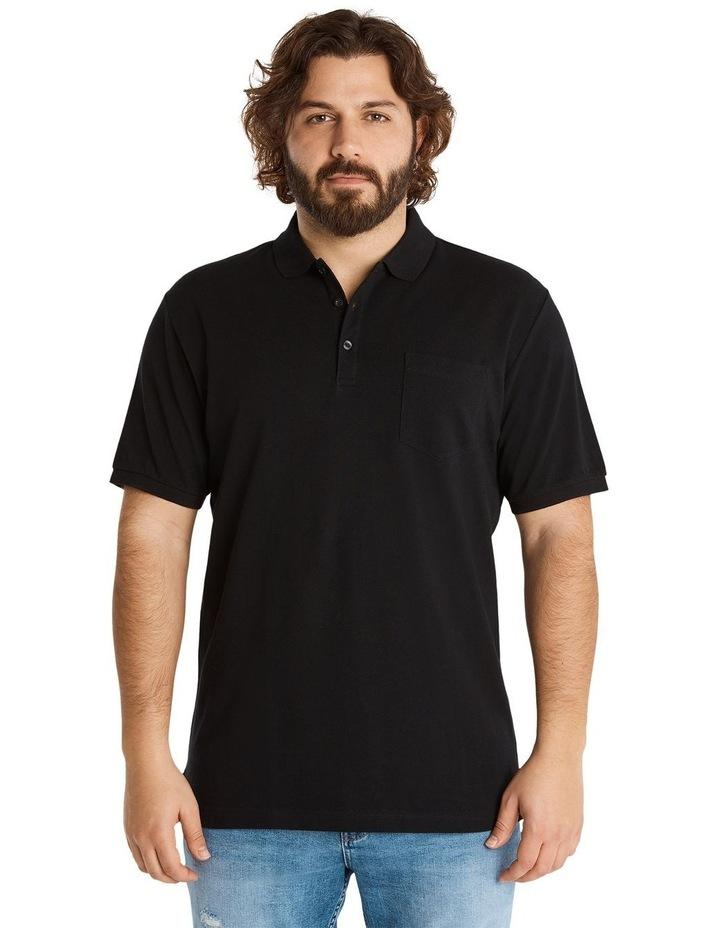 Plain Pique Polo Black image 1