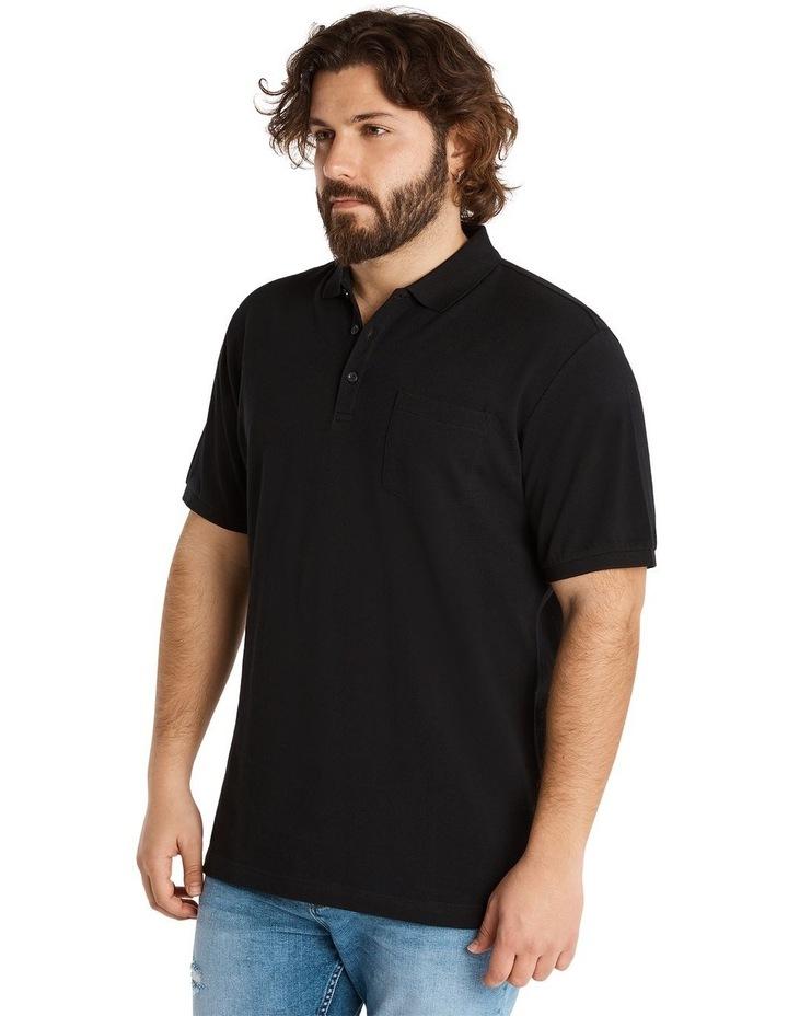 Plain Pique Polo Black image 2
