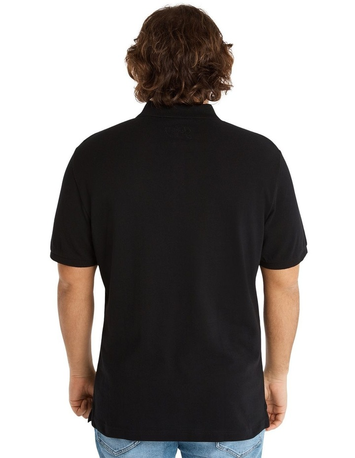 Plain Pique Polo Black image 3