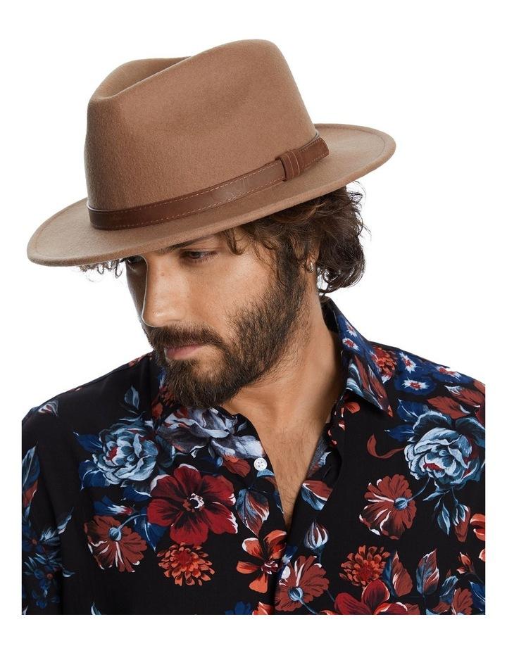 The Wool Felt Fedora Hat Taupe image 1