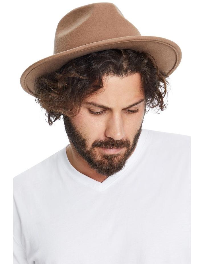 The Wool Felt Fedora Hat Taupe image 2