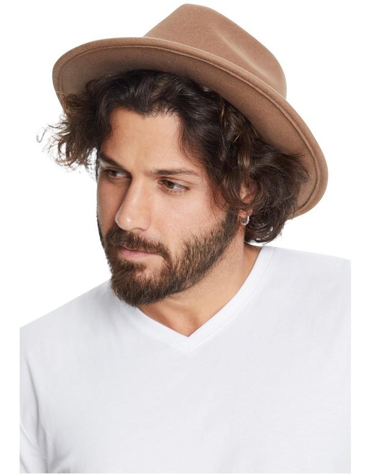 The Wool Felt Fedora Hat Taupe image 3