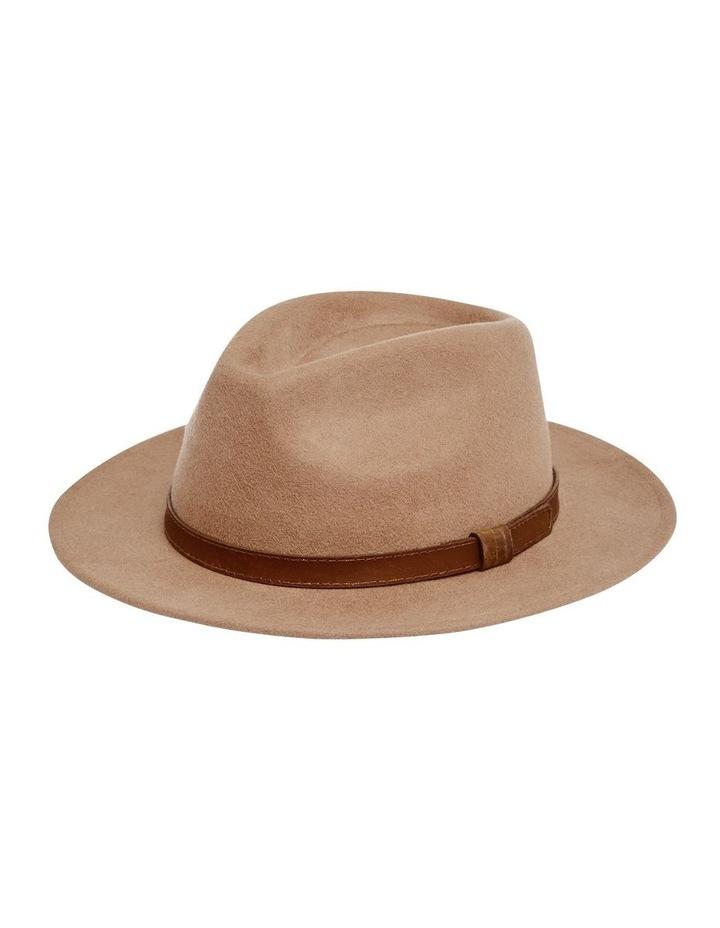 The Wool Felt Fedora Hat Taupe image 4