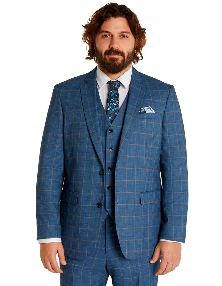 Darcey Check Stretch Suit Jacket Blue image 1
