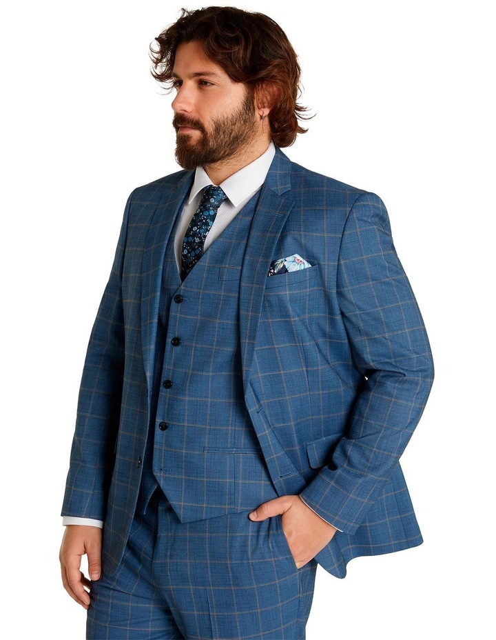 Darcey Check Stretch Suit Jacket Blue image 2