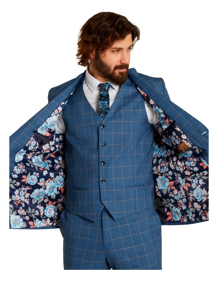 Darcey Check Stretch Suit Jacket Blue image 6