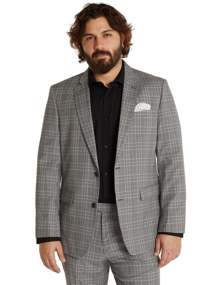 Duke Check Stretch Suit Jacket Grey image 1