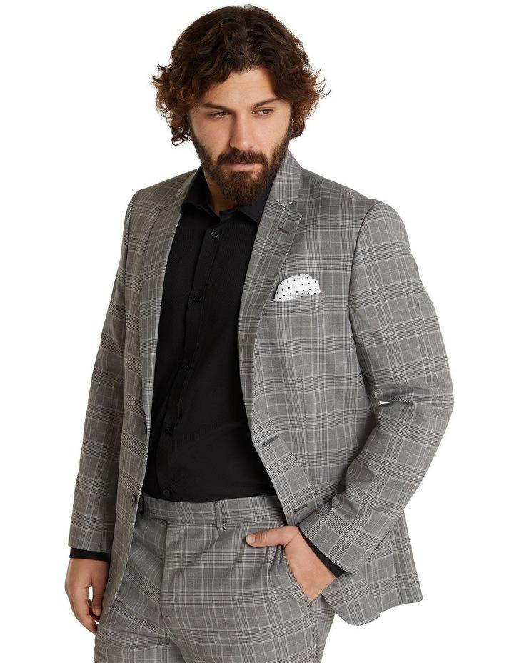 Duke Check Stretch Suit Jacket Grey image 2