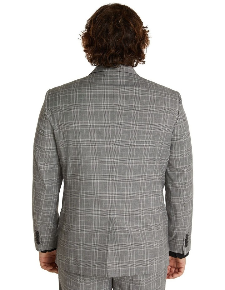 Duke Check Stretch Suit Jacket Grey image 3