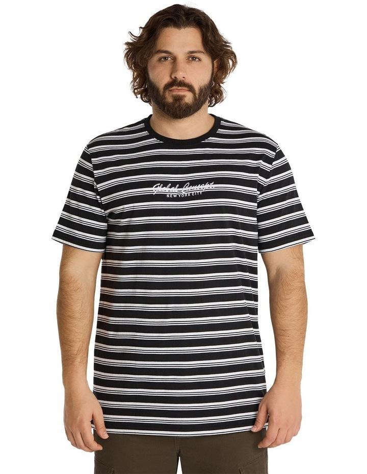 Global Yd Stripe Longline Tee Black image 1