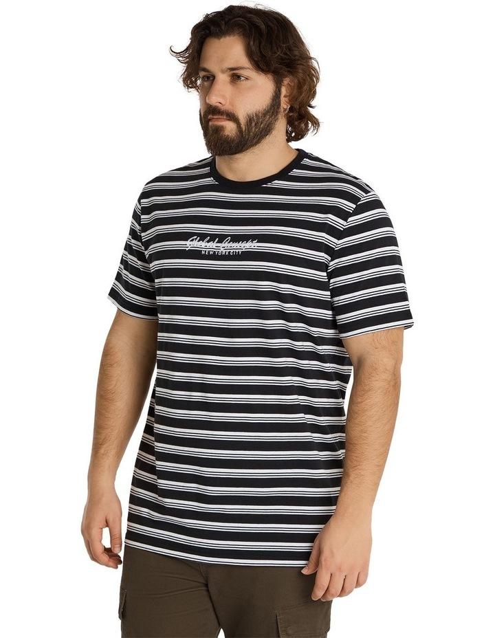 Global Yd Stripe Longline Tee Black image 2