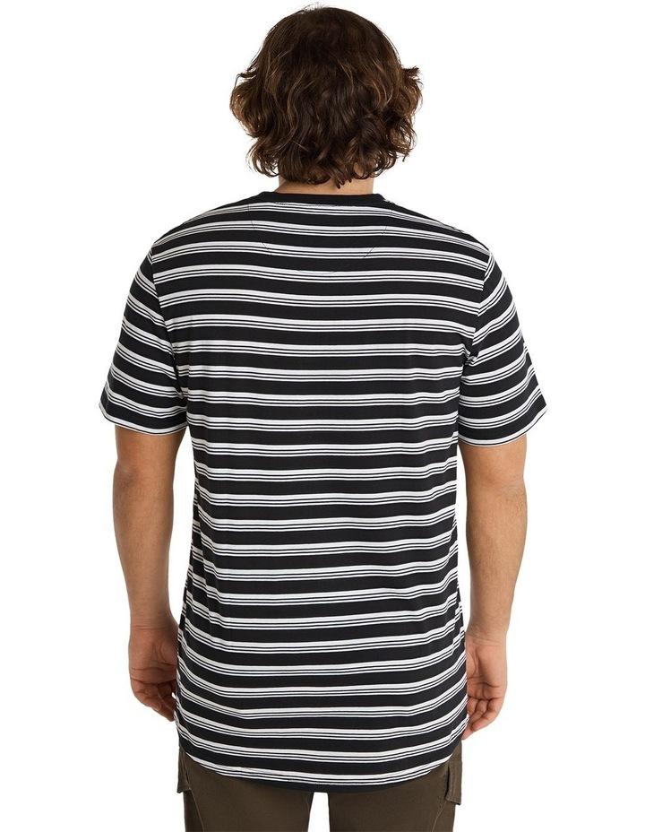 Global Yd Stripe Longline Tee Black image 3