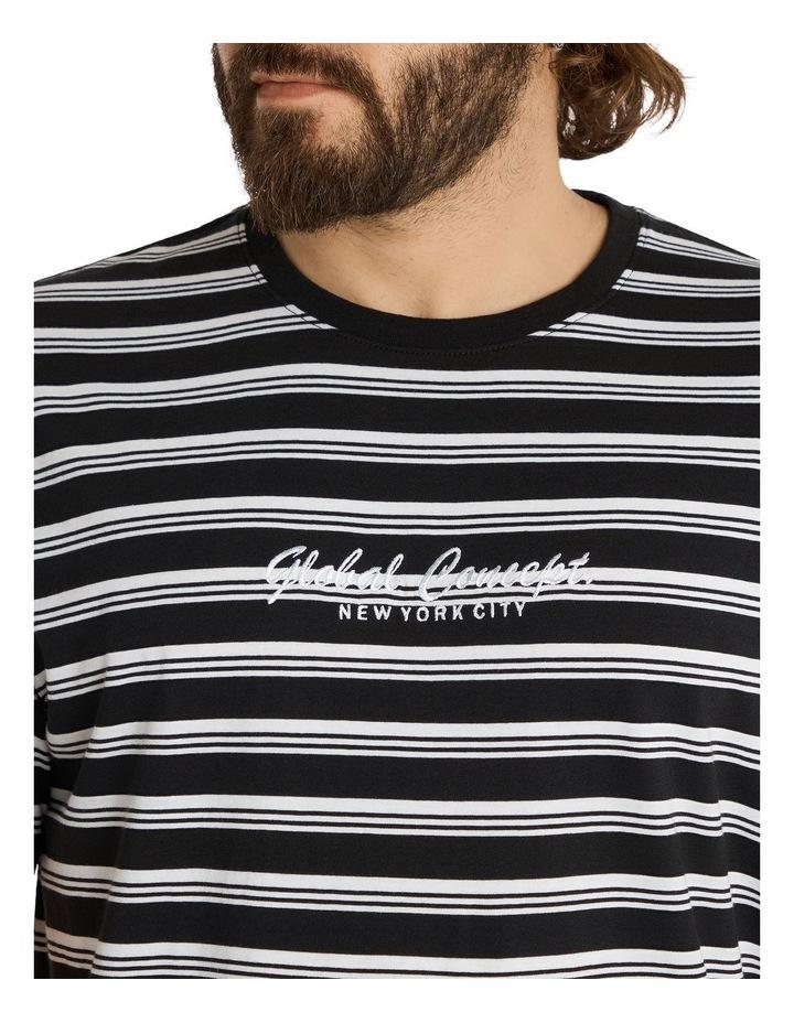 Global Yd Stripe Longline Tee Black image 4