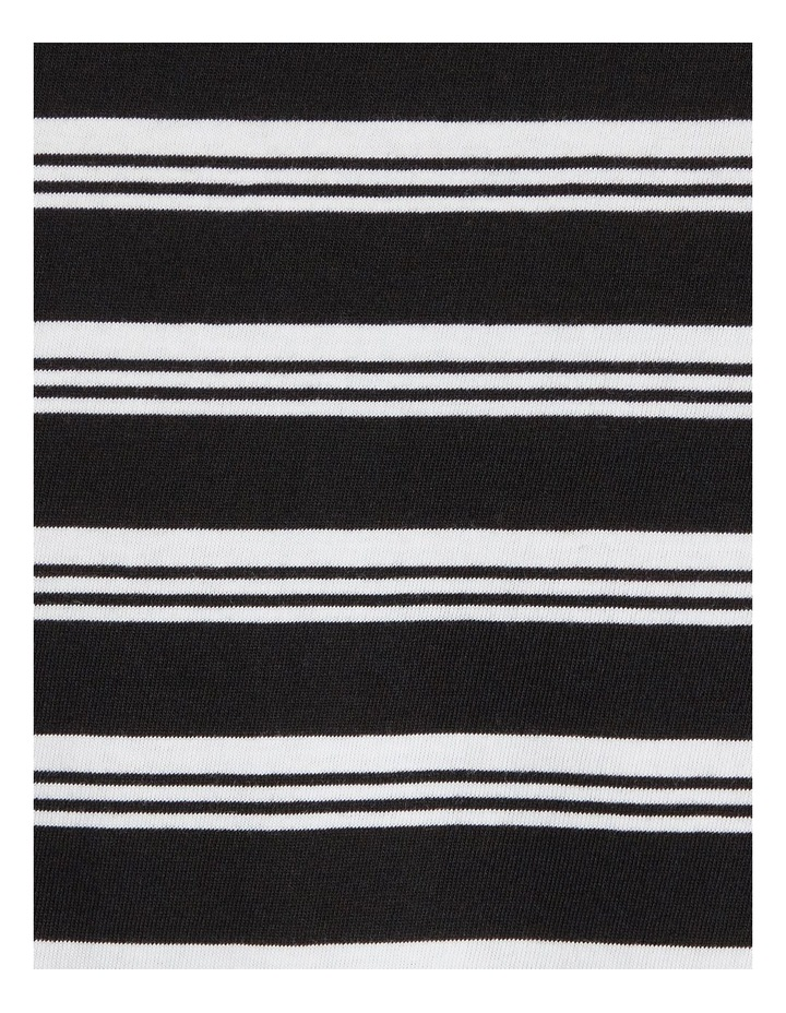 Global Yd Stripe Longline Tee Black image 6