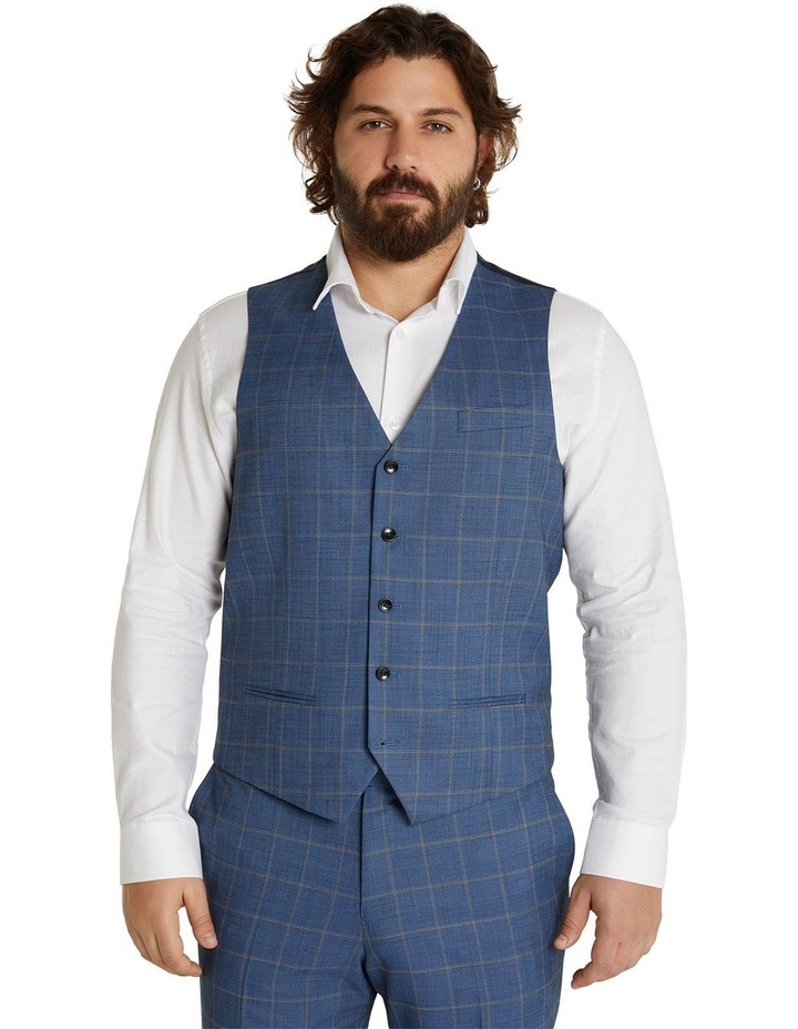 The Darcey Check Stretch Waistcoat Blue image 1