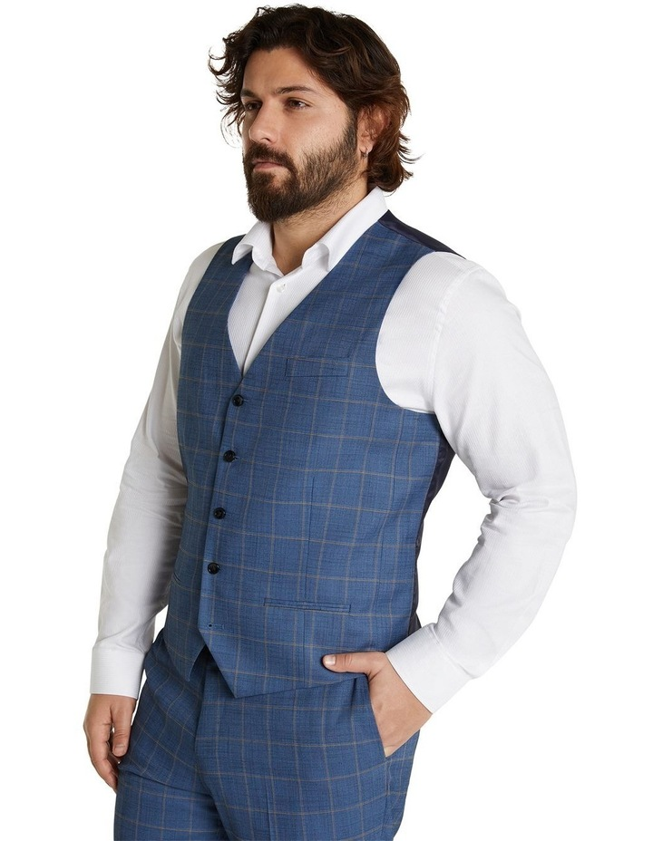 The Darcey Check Stretch Waistcoat Blue image 2