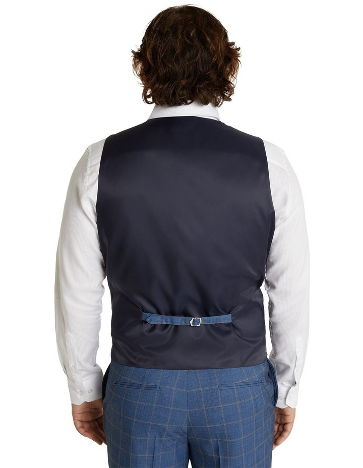 The Darcey Check Stretch Waistcoat Blue image 3