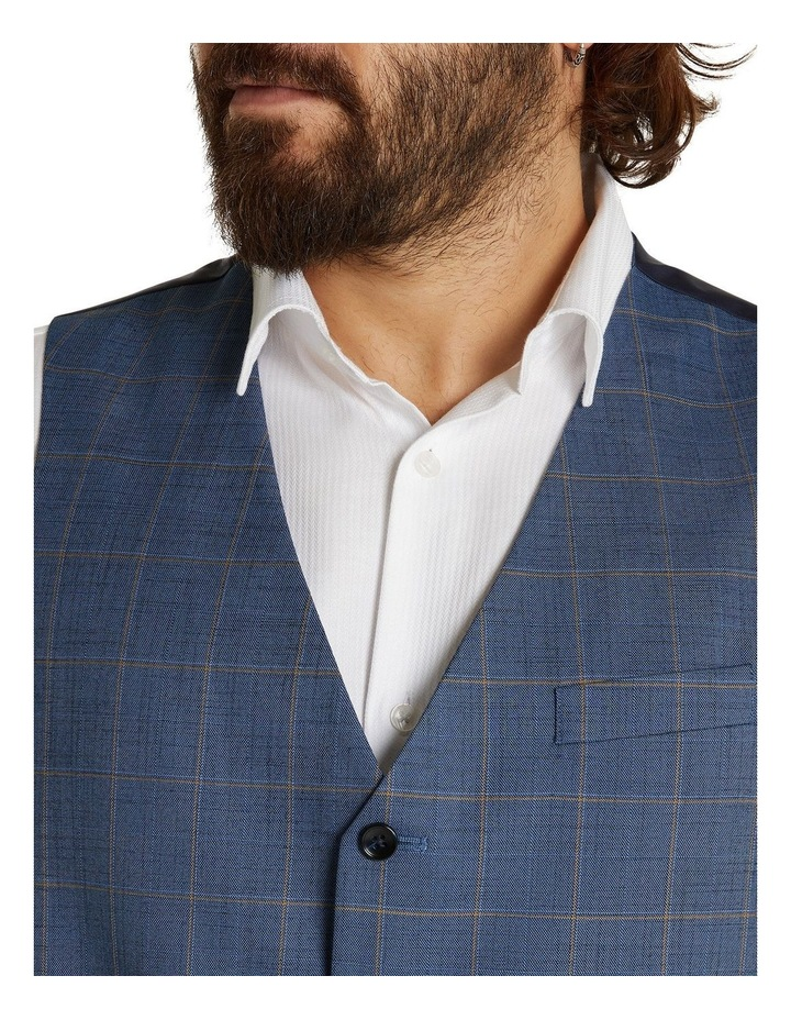 The Darcey Check Stretch Waistcoat Blue image 4