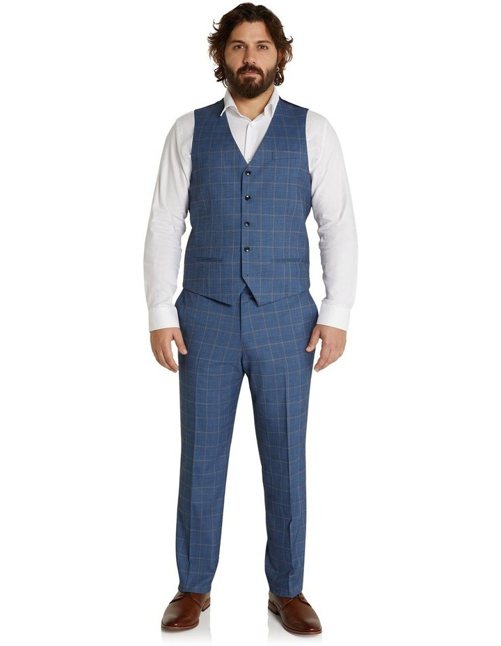 The Darcey Check Stretch Waistcoat Blue image 5