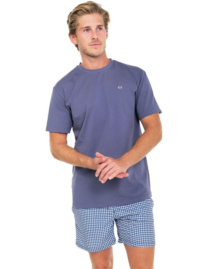 ORTC Flag T Shirt in Ash Blue image 2
