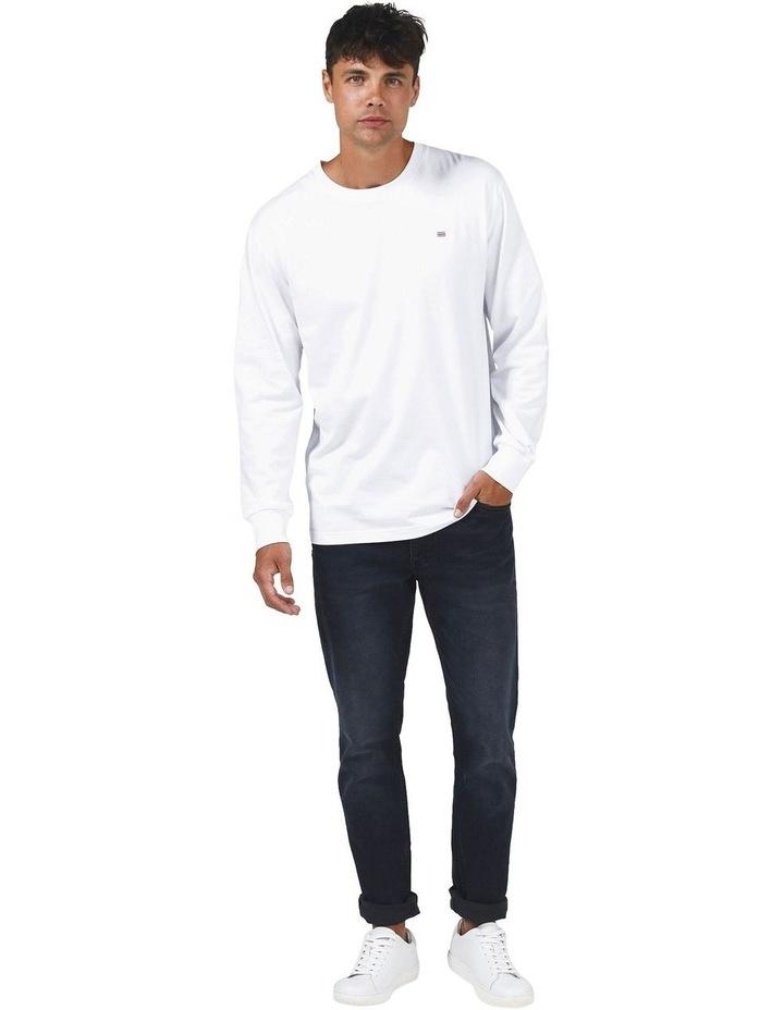 ORTC Flag Long Sleeve T Shirt White image 1