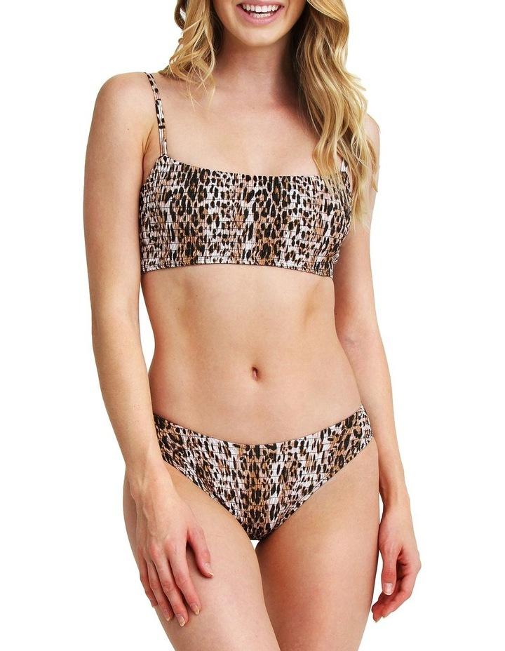 Two Piece Smocked Bikini - Leopard Print image 4