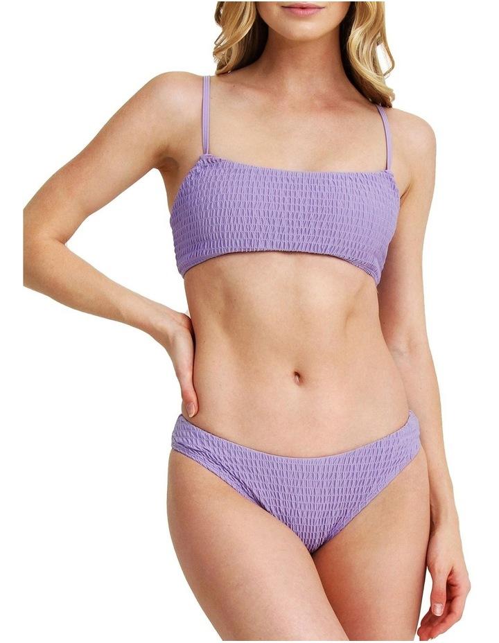 Two Piece Smocked Bikini - Mauve image 1