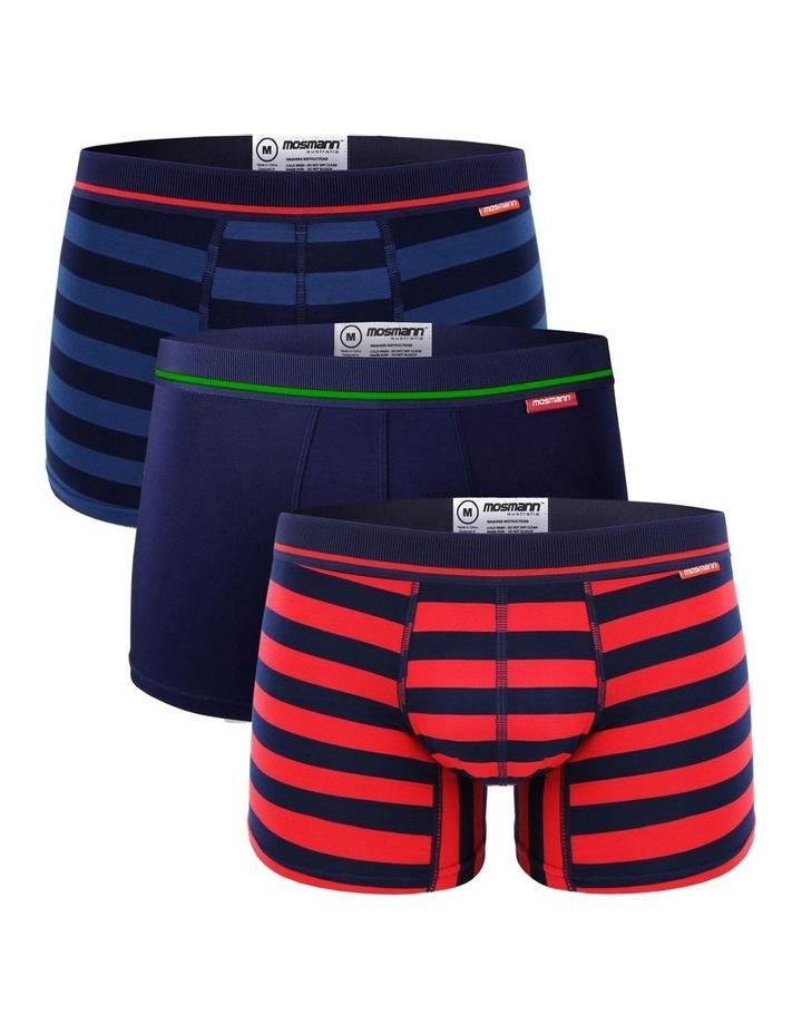 Bamboo Underwear 3-Pack Renaissance Trunks image 1
