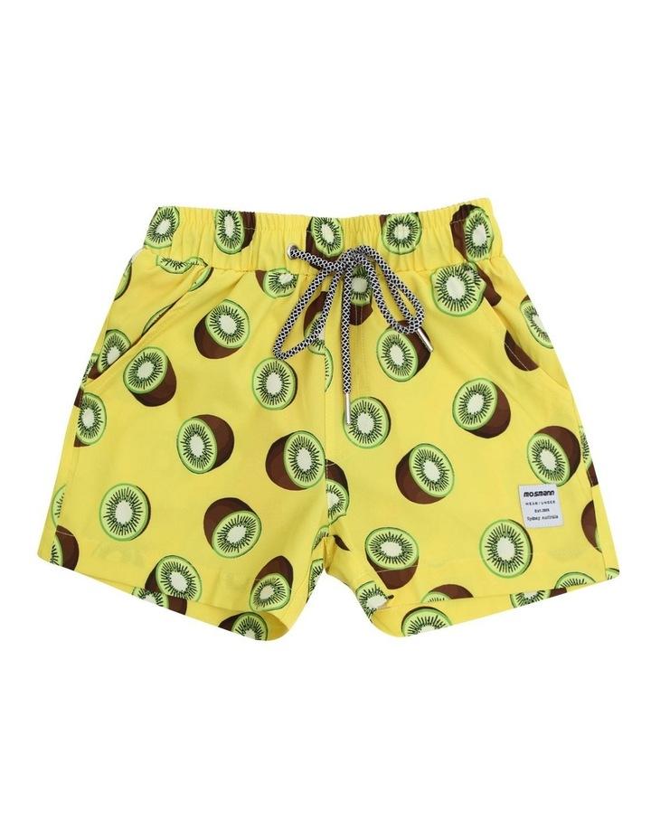 Boy's Tailored Swim Shorts - Kiwi Yellow image 1