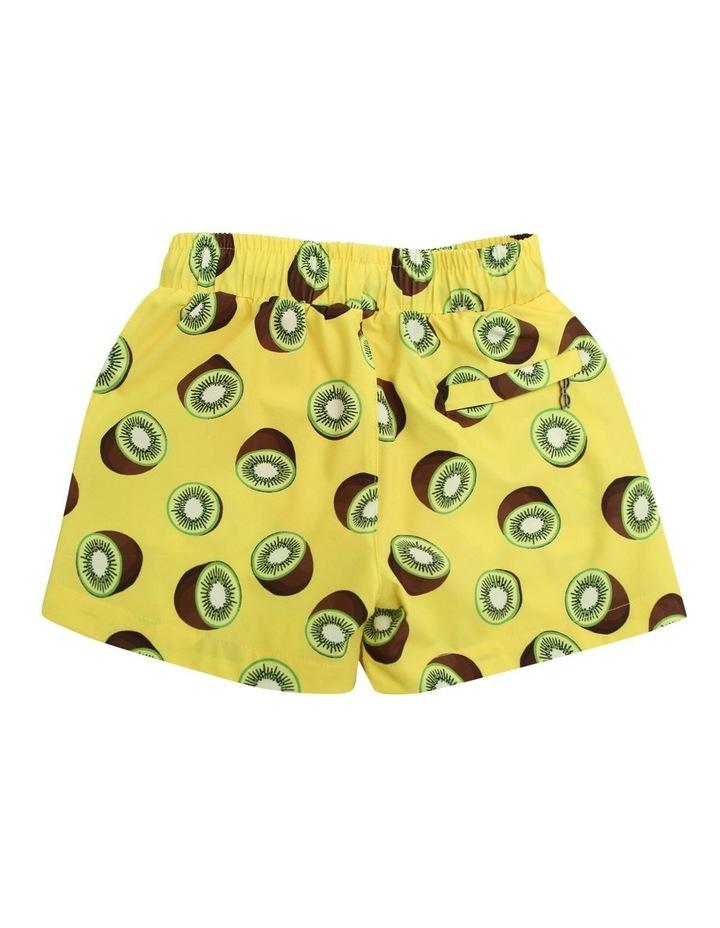 Boy's Tailored Swim Shorts - Kiwi Yellow image 2