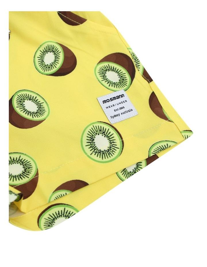 Boy's Tailored Swim Shorts - Kiwi Yellow image 4