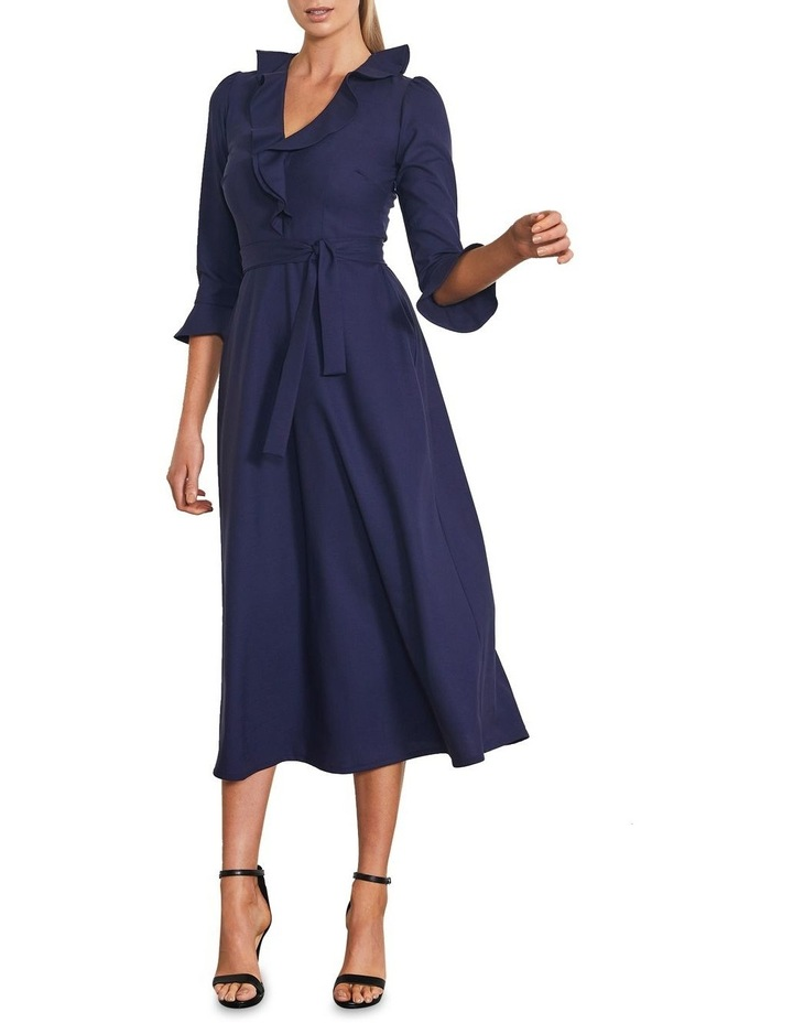 Unity Midi Faux Wrap Dress image 1