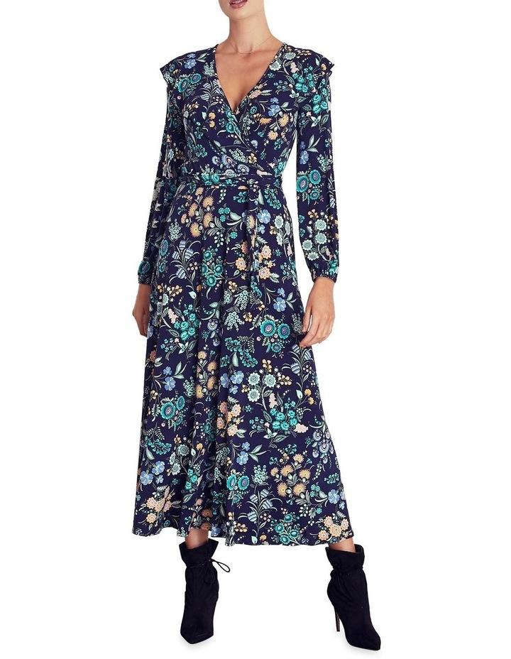 Katenka Print Frill Midi Dress image 1