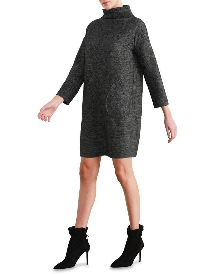 Zeta Tweed Funnel Shift Dress image 1