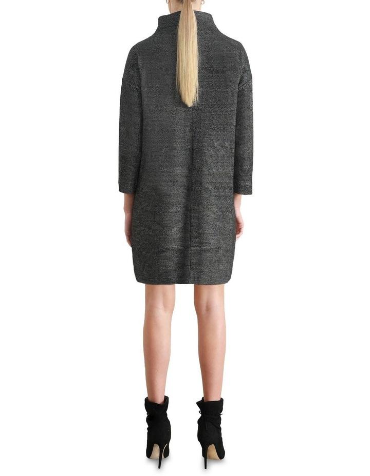 Zeta Tweed Funnel Shift Dress image 2