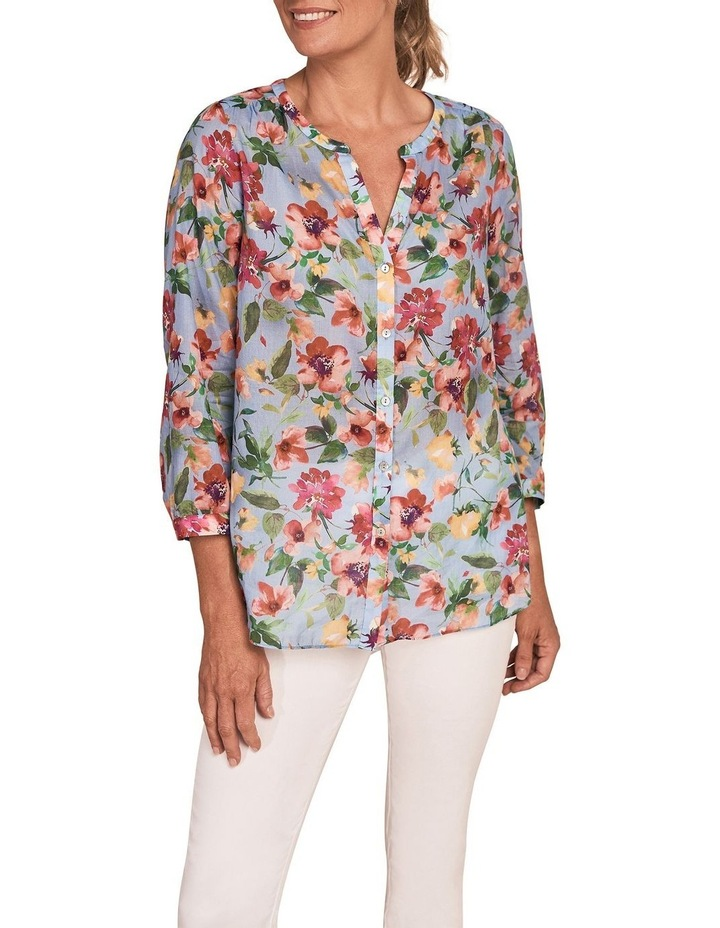 French Cotton Floral Shirt image 1