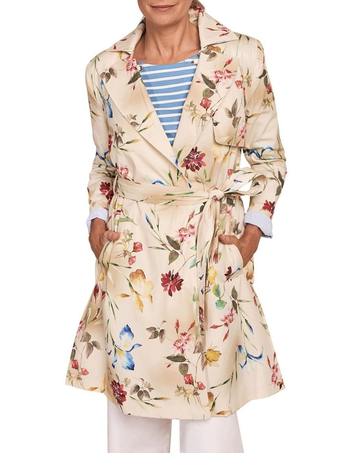 Printed Trench Coat image 1
