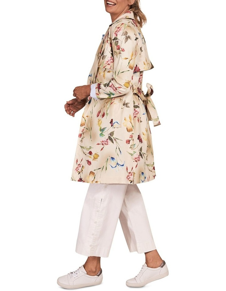 Printed Trench Coat image 3