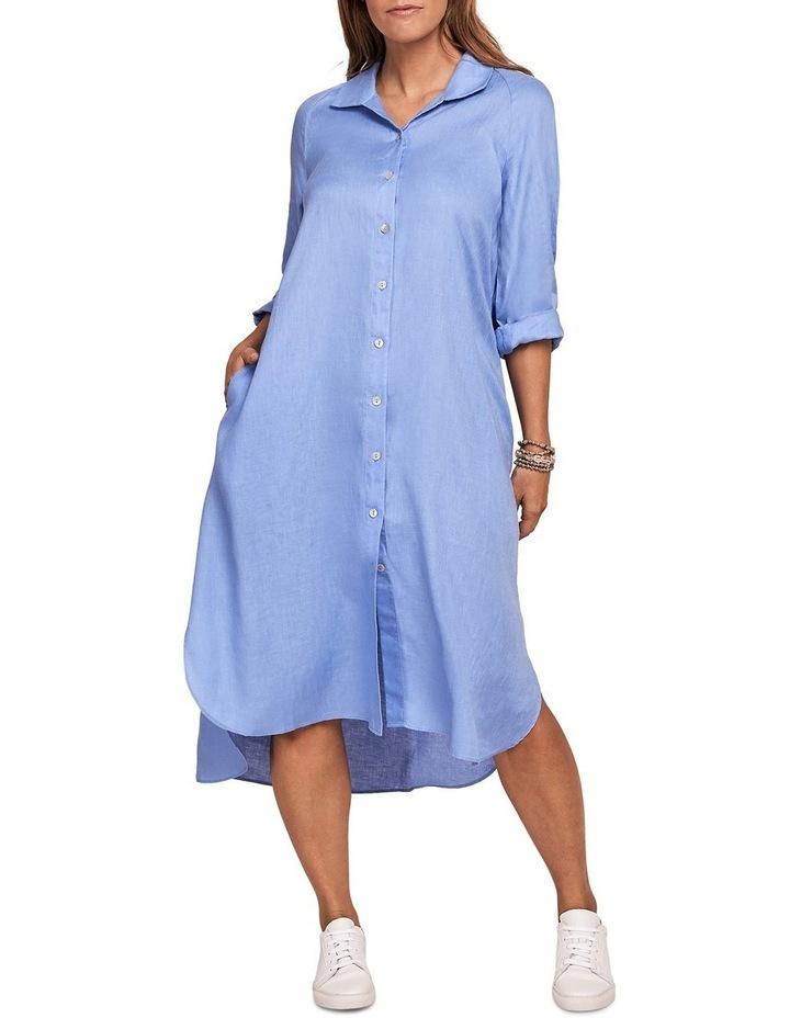 French Linen Shirt Dress image 1