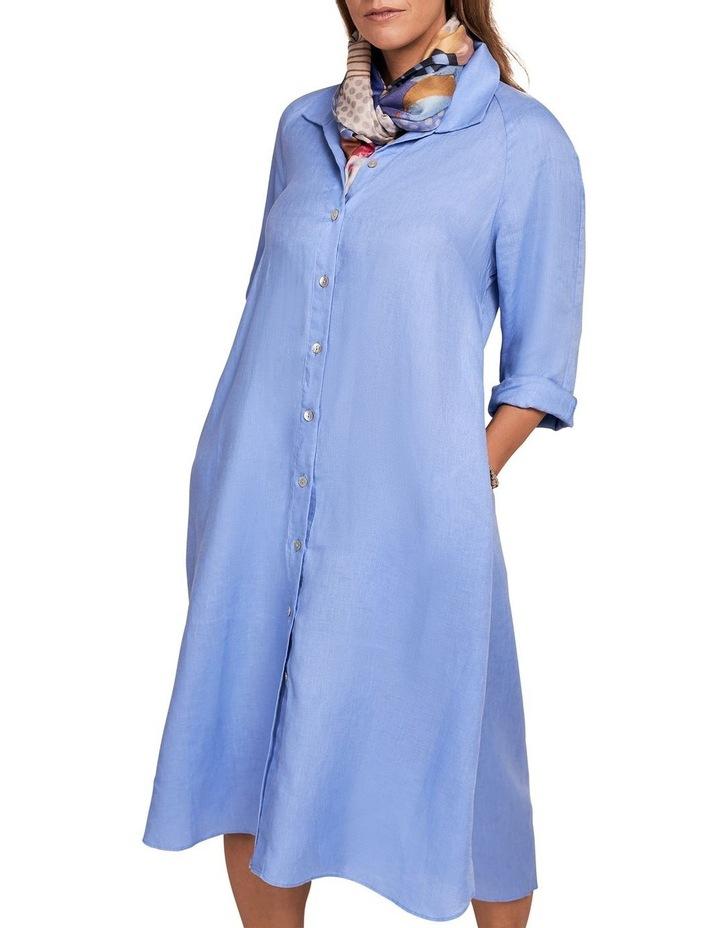 French Linen Shirt Dress image 3