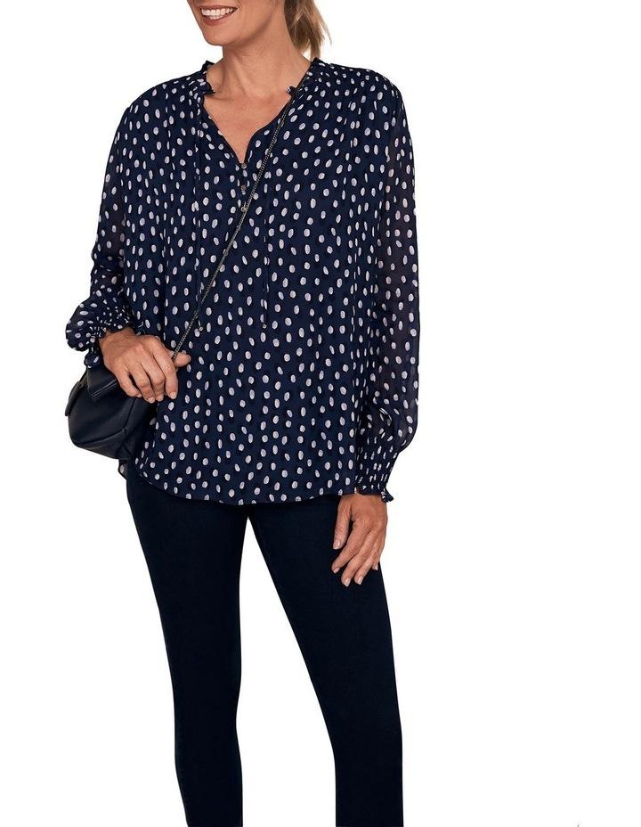 Shirring Printed Blouse image 1