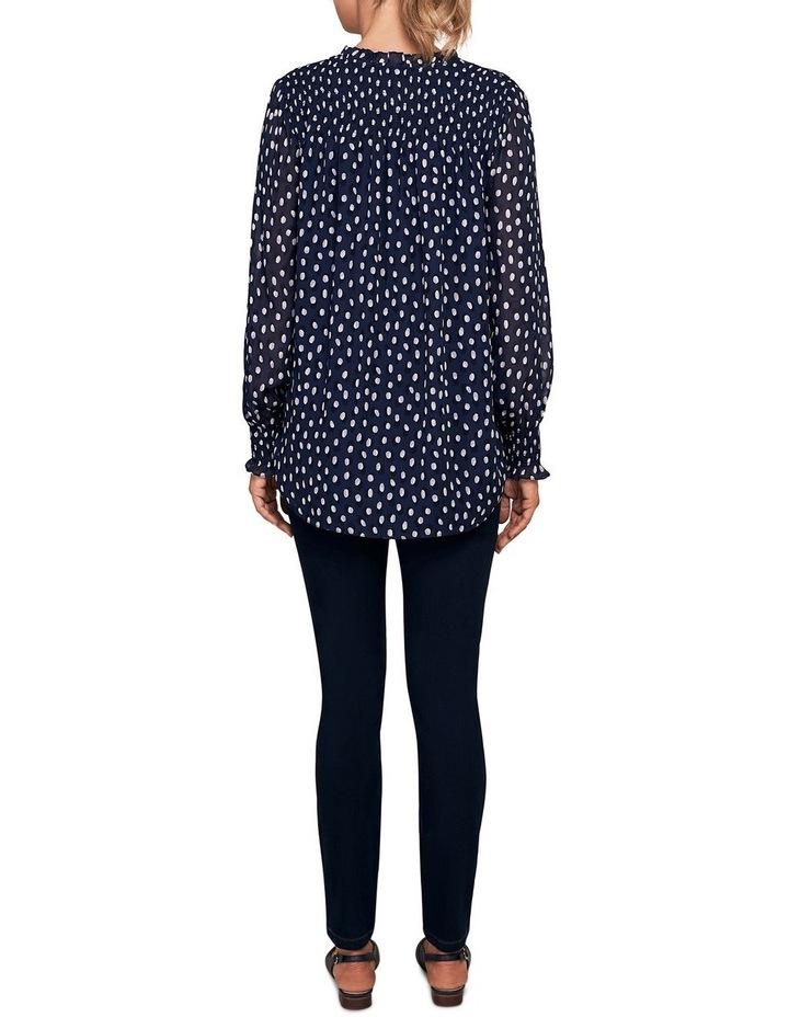 Shirring Printed Blouse image 3