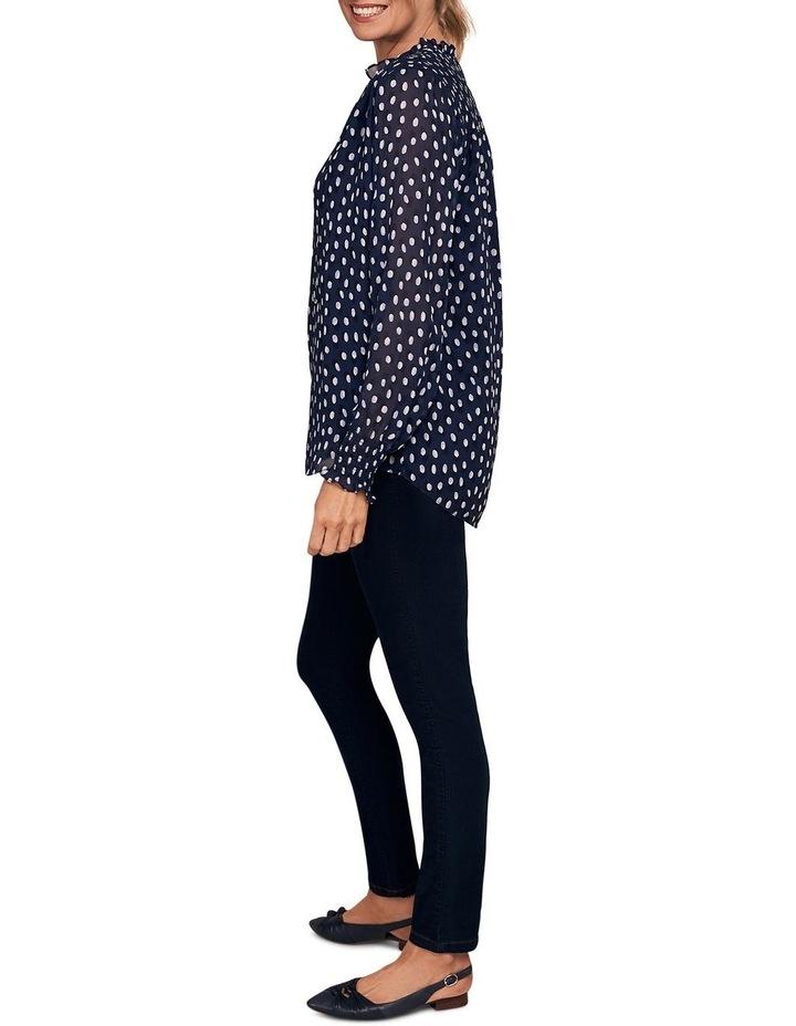 Shirring Printed Blouse image 4