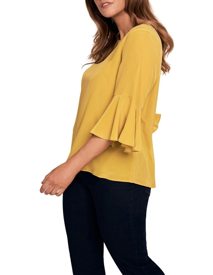 Silk Frill Sleeve Blouse image 2