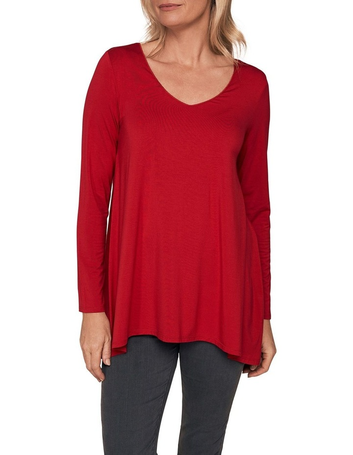 Long Sleeve Trapeze V-Neck Top image 1