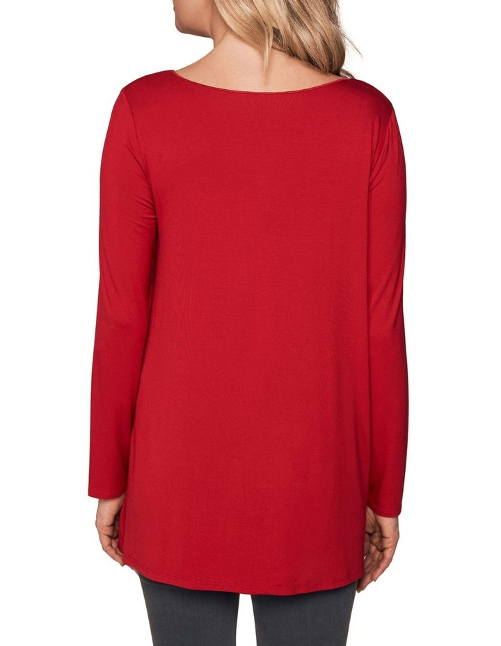 Long Sleeve Trapeze V-Neck Top image 2