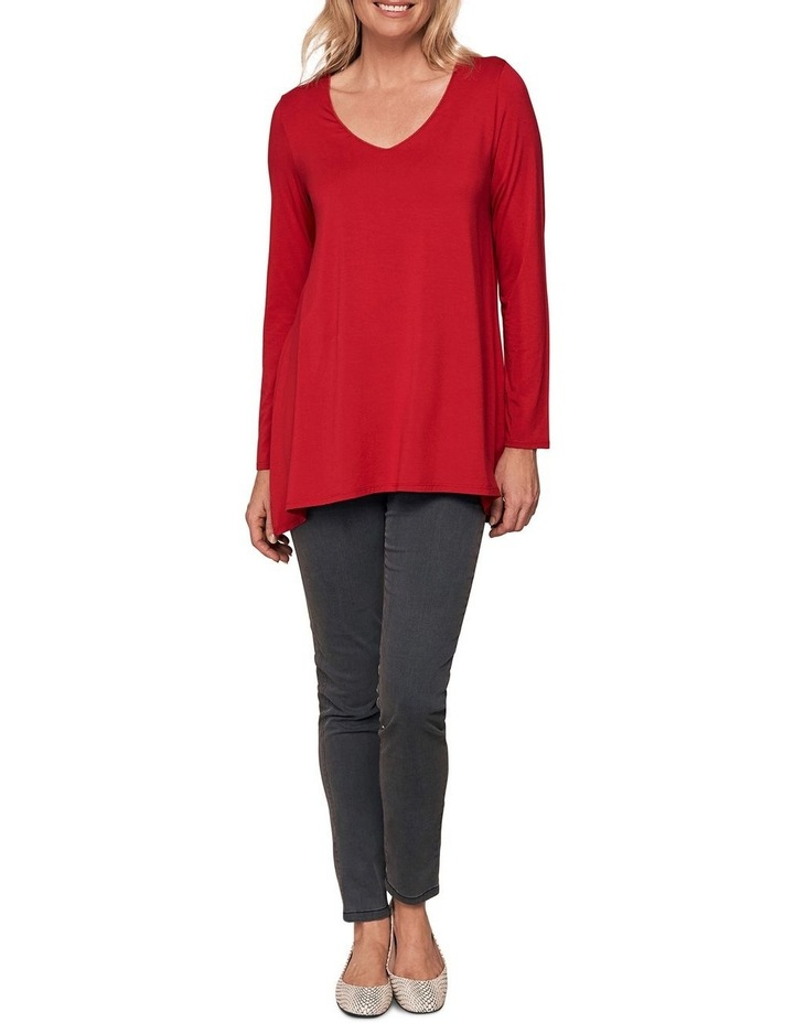 Long Sleeve Trapeze V-Neck Top image 3