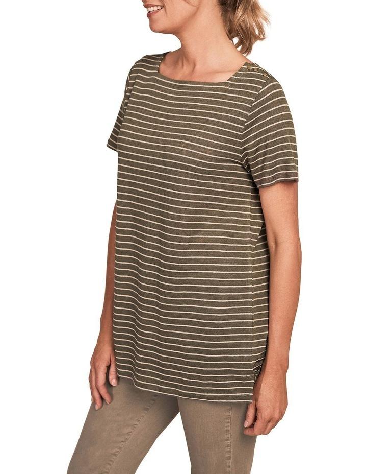 Stripe Linen T-Shirt image 1