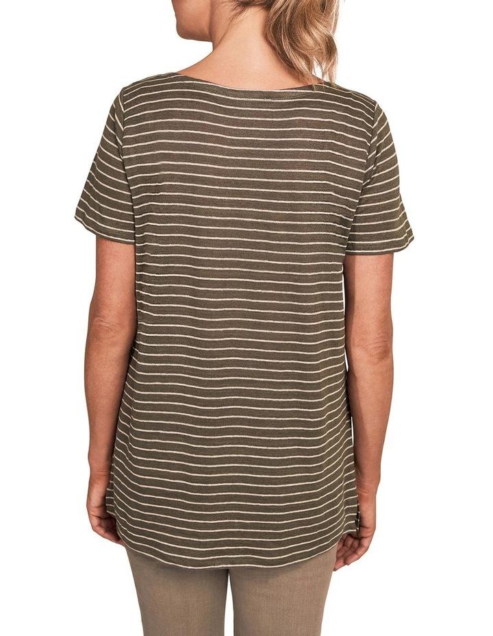 Stripe Linen T-Shirt image 2