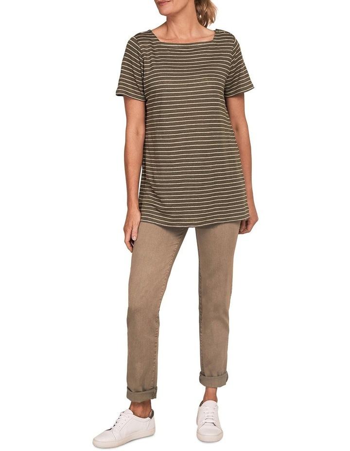 Stripe Linen T-Shirt image 3
